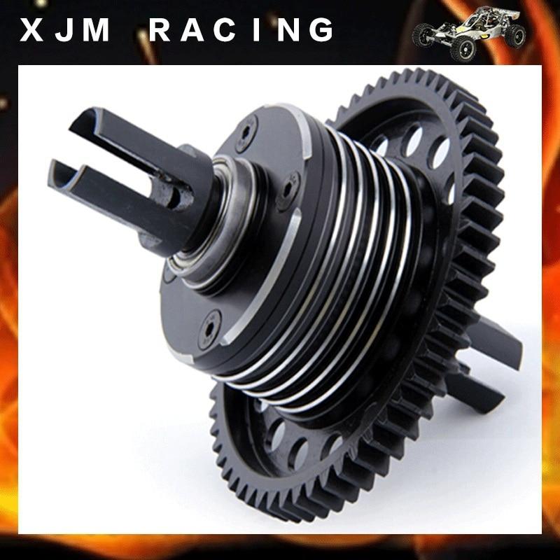 CNC Металл сплит дифференциальный корпус дифференциальный комплект для 1/5 Rovan LT Losi 5ive-T DDT KINGMOTOR X2 фид гоночные части