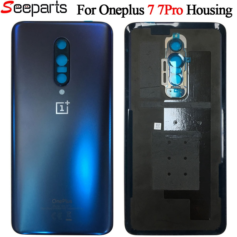 Original Back Case For OnePlus 7 Pro Battery Cover Back Rear Door Housing Replacement Parts For onep