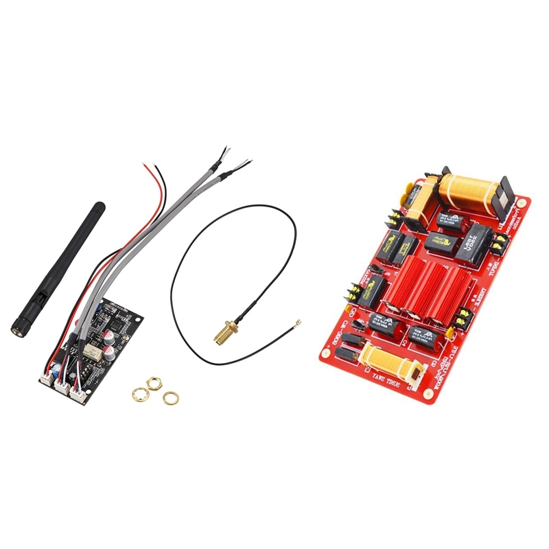 1 قطعة ستيريو الصوت اللاسلكية ضياع تلقي مع هوائي و 1 قطعة 600 واط المتكلم 3 طريقة كروس ثلاثة أضعاف مكبرات الصوت