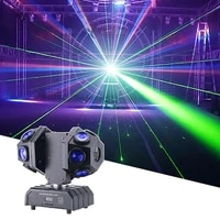 12x10w led 4in1 double arms laser moving head light dmx512 stage beam effect light disco dj concert wedding party show light
