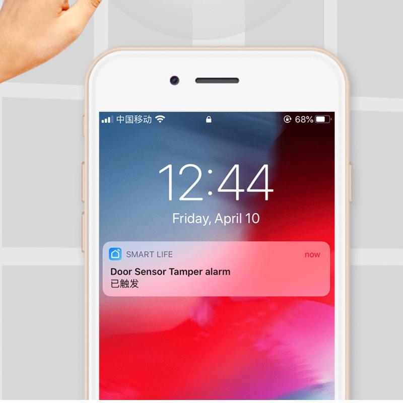 ZIGBEE     detecteur de porte et fenetre sans fil  alarme  application Tuya Smart Life  telecommande  fonctionne avec Alexa Google Home  3 0