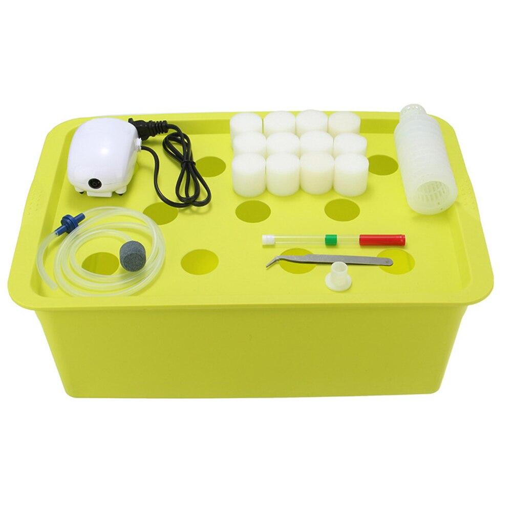 ¡Oferta! sistema hidropónico de planta de 11 agujeros, Kit de cultivo, bomba de burbujas de 110 V, caja de gabinete para jardín interior, macetas para vivero