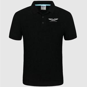 2021 summer High quality Aston Martin logo Polo classic brand Men Polo Shirt Men Casual solid Short Sleeve cotton polos gh58