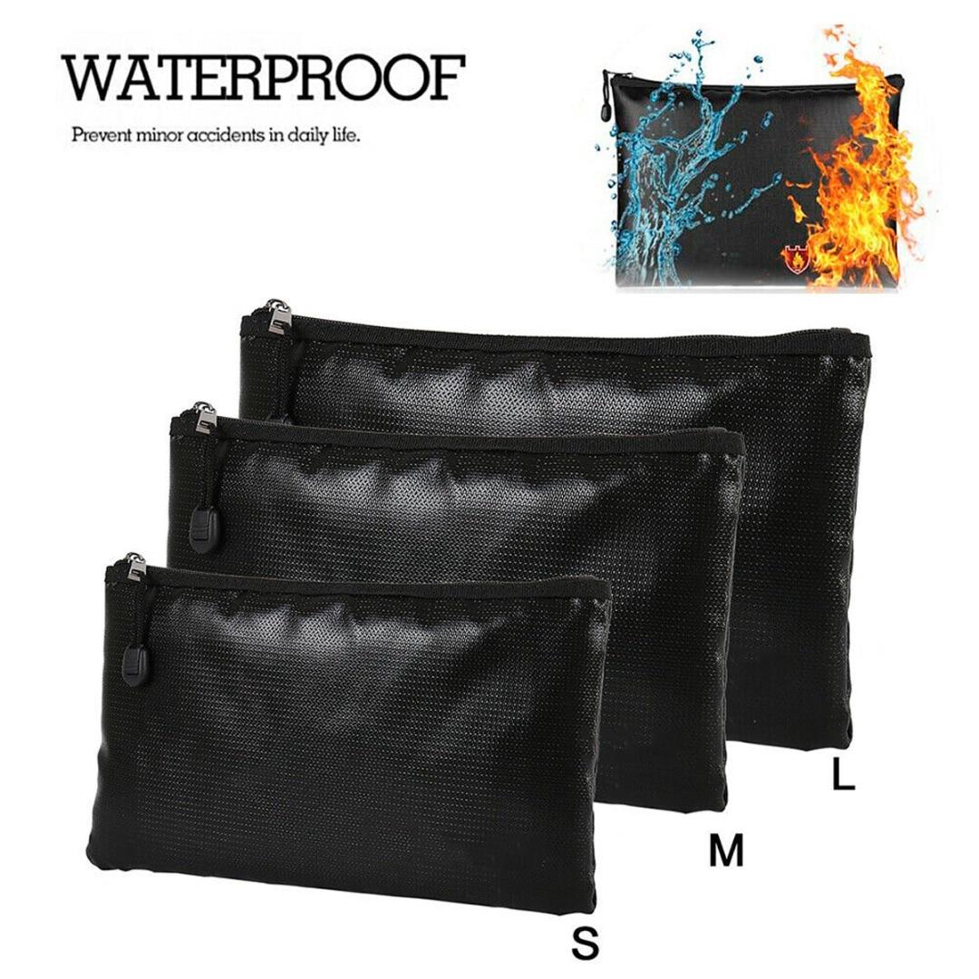 Portable Fireproof & Waterproof Document Envelope File Folder Cash Pouch Money Safe Bag For Home Office S/M/L недорого
