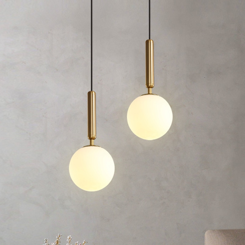 AliExpress - Modern Pendant Lamp Luxurious Gold Glass Ball Lampshade Hanging Lights Fixtures For Dining Room Bedroom Decoration Lighting