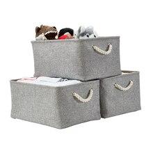 3 pièces L taille vêtements pliant pépinière sous-vêtements jouet organisateur blanchisserie Cube toile tissu stockage panier boîte de rangement
