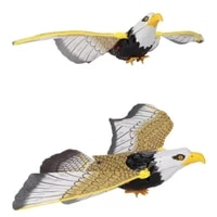 luminous eagle with music repellent hanging eagle flying bird scarer garden decoration portable flying bird garden decoration