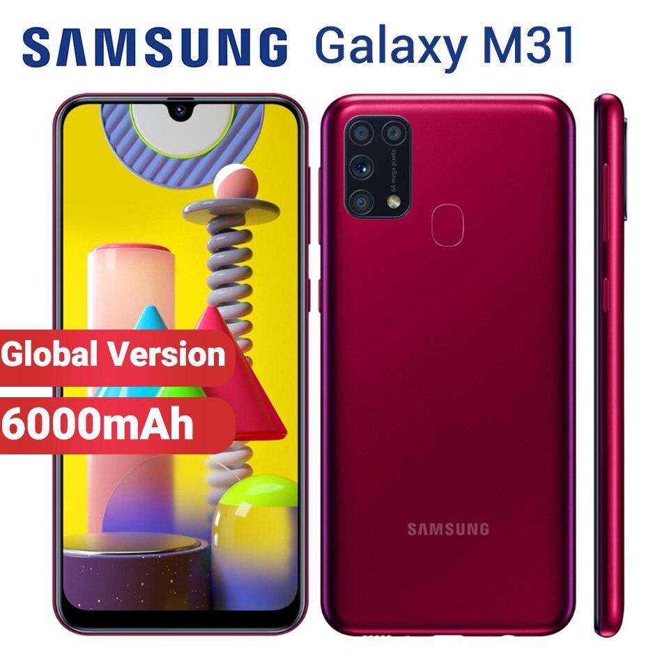 "Globale Samsung Galaxy M31 128GB 6GB Handy 6000mAh M315F/DSN 6.4 ""Exynos 9611 4 kamera 64MP Dual SIM Android 10 Smartphone"