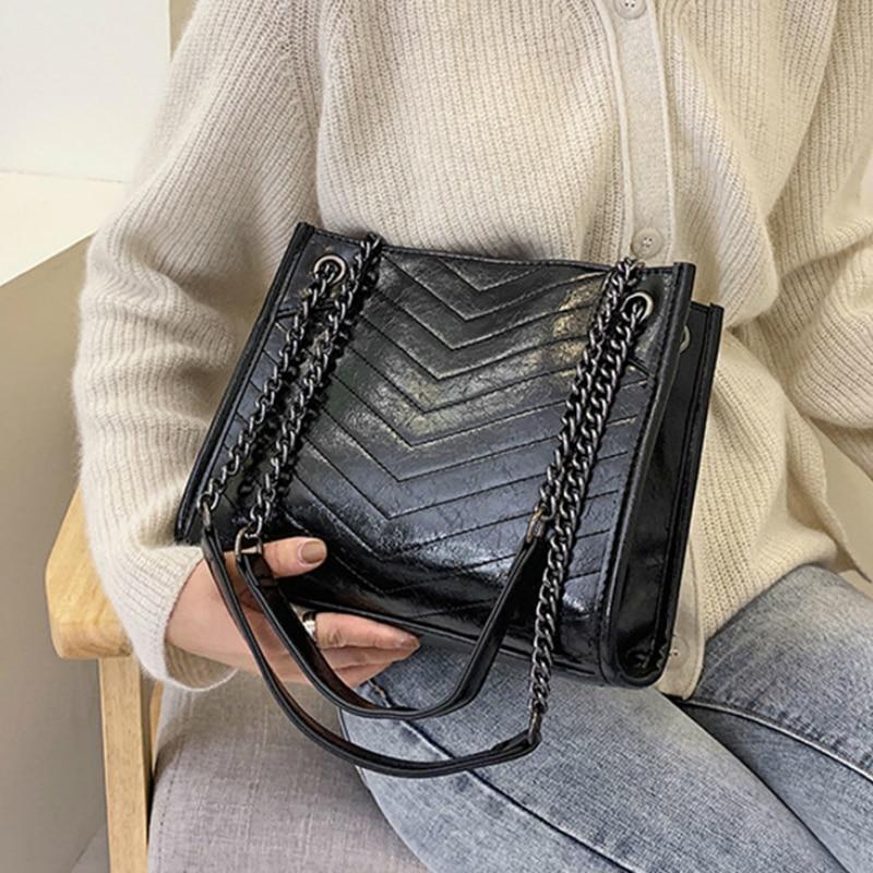 Winter Large Shoulder Bag Women Travel Bags Leather Pu Quailty Bag Female Luxury Handbags Women Bags Designer Sac A Main Femme