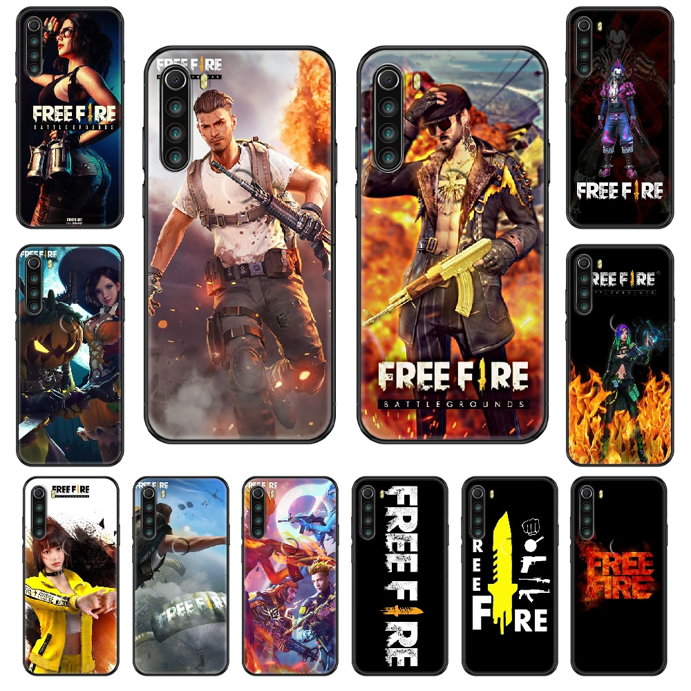 Game Free Fire Phone case For Xiaomi Redmi Note S2 4 5 6 7 8 A S X Plus Pro black art Etui 3D hoesjes luxury back silicone cover