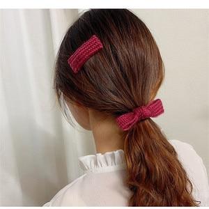 Ярких цветов Цветной шерстяные заколка для волос для девочек вязаная резинка для волос костюм Для женщин