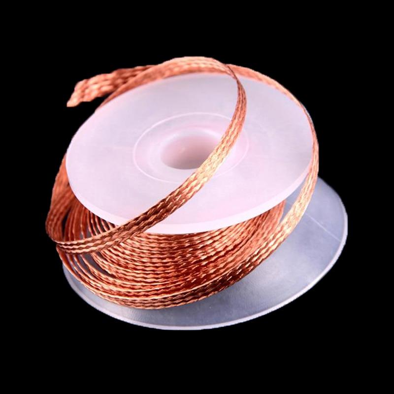 wmore soldering iron wick wire lead free tin 1 5m length 2mm width desoldering braid welding solder remover wick wire cord flux Width 3M Length Desoldering Braid Welding Solder Remover Wick Wire Lead Cord Flux  Repair Tool 2mm 2.5mm