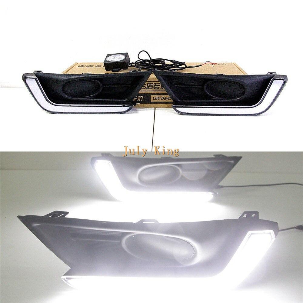 Luces de circulación diurna de guía de luz LED de July King cubierta para DRL para Honda CRV CR-V 2017-2020 versión de lámpara de niebla baja