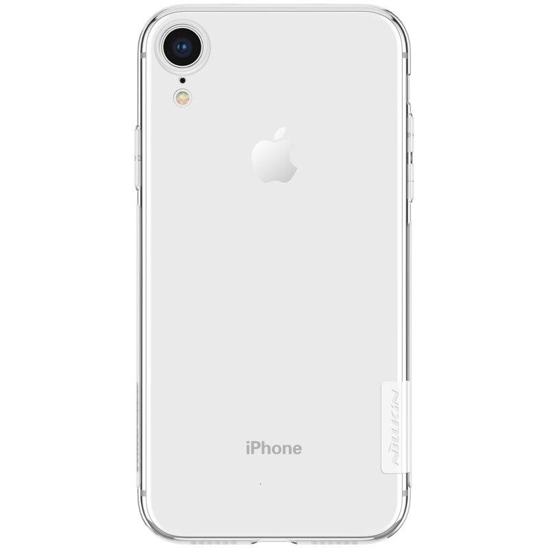 Carcasa NILLKIN para Apple iPhone XR, carcasa para iPhone XR, carcasa de silicona natural transparente, funda trasera de TPU suave