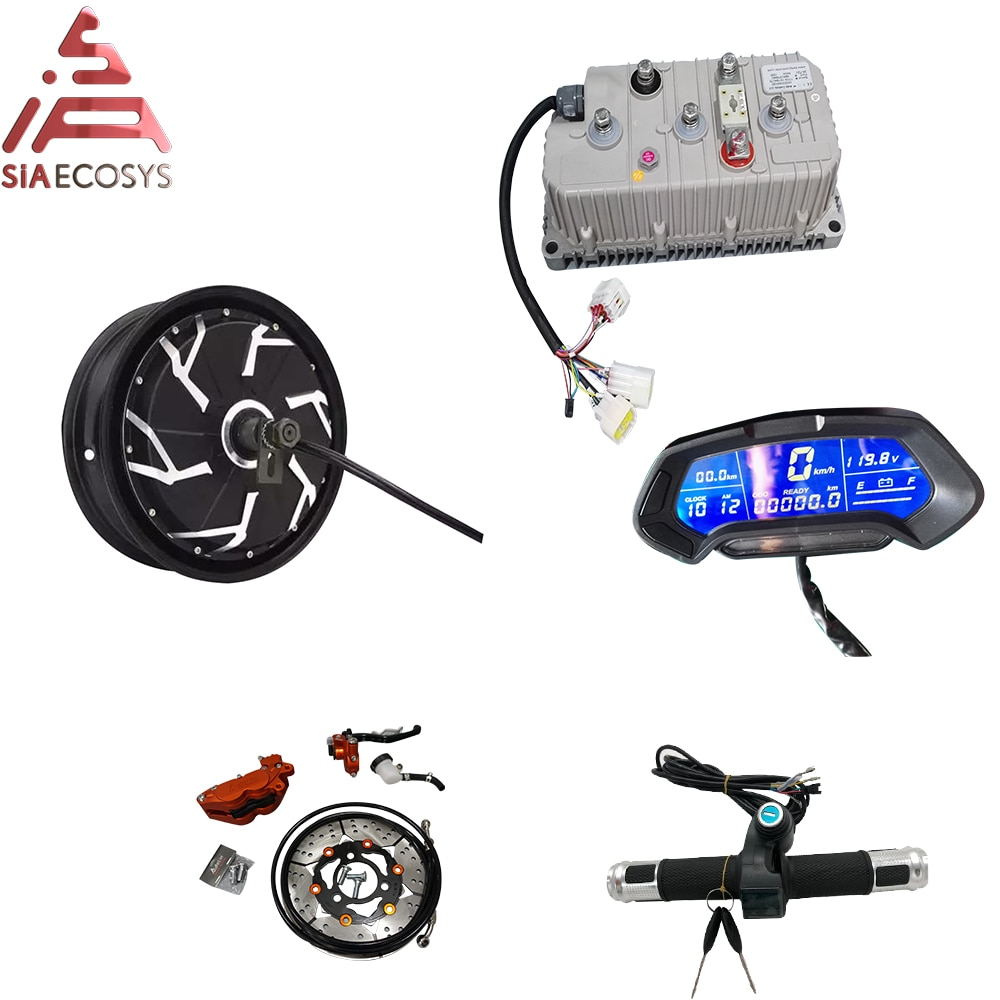 QS Motor 12*3.5inch 5000W 260 V4 motor kits high effctive in wheel hub motor with Kelly controller for electric scooter
