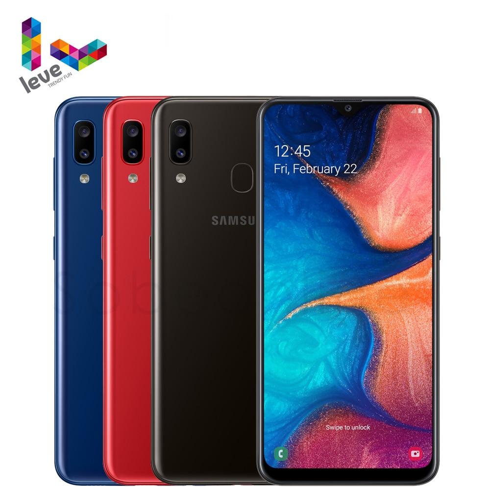 Перейти на Алиэкспресс и купить Разблокированный Samsung Galaxy A20 A205U A205F/DS мобильный телефон 1SIM & 2SIM 6,4 дюймпикселей, 3 Гб оперативной памяти Octa Core 2 камеры 13MP 4 аппарат не привязан к опе...