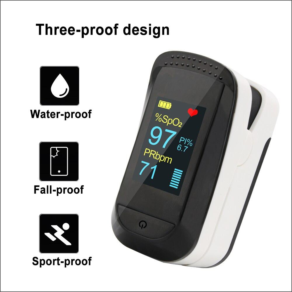 RZ Finger Pulse Oximeter Fingertip OscillOmeter Digital Pulsioximetro Portable Household Health Heart Rate SPO2 PR Monitor
