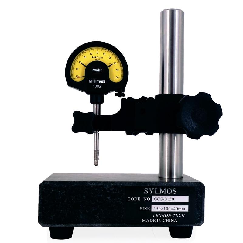 SYLMOS 210*150*50 مللي متر ارتفاع قياس قاعدة المقارنة موقف الجرانيت المواد الهاتفي مؤشر موقف GCS-0210