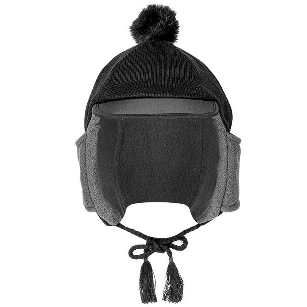 Winter Warm Bomber Hats rapper Hat Adjustable Fashionable Cap Men Women Thicker Warm Solid Soft Wind