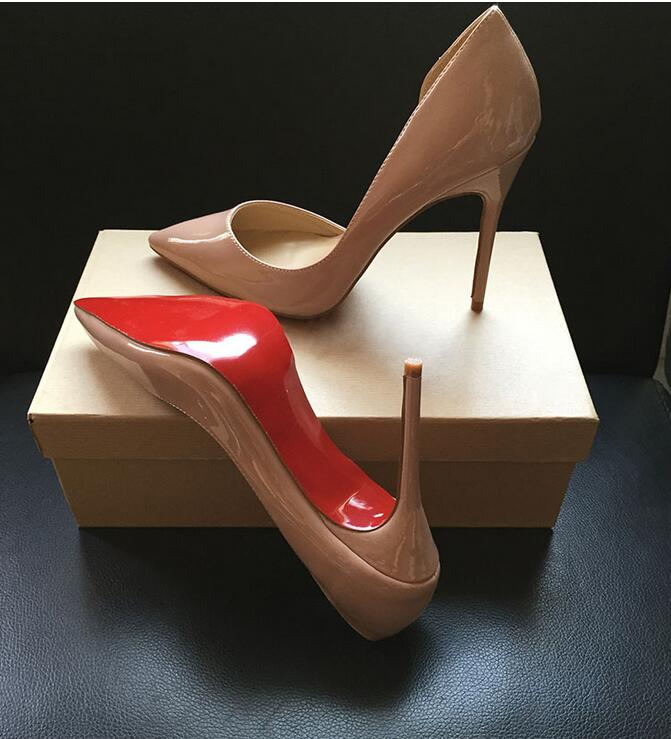 Luxury Shoes Women Designers Side Pumps Sexy Wedding Shoes Bling Extreme High Heels Women Sexy Heels Shoes Ladies Shoes