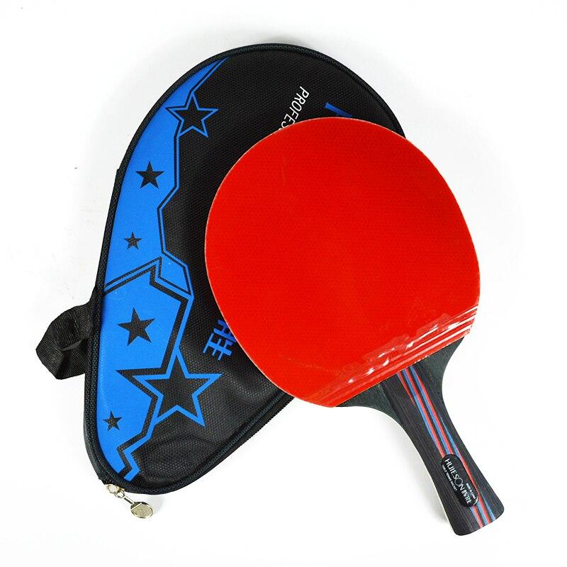 Huieson de fibra de carbono híbrido raqueta de tenis de mesa de Ping Pong raqueta de doble cara granos-En cuchilla para jugadores Senior