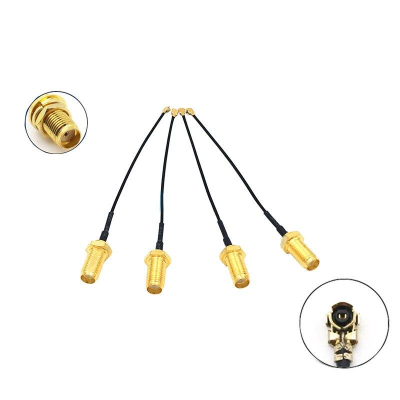 5 uds SMA conector de Cable hembra un uFL/u FL/IPX/IPEX RF adaptador...