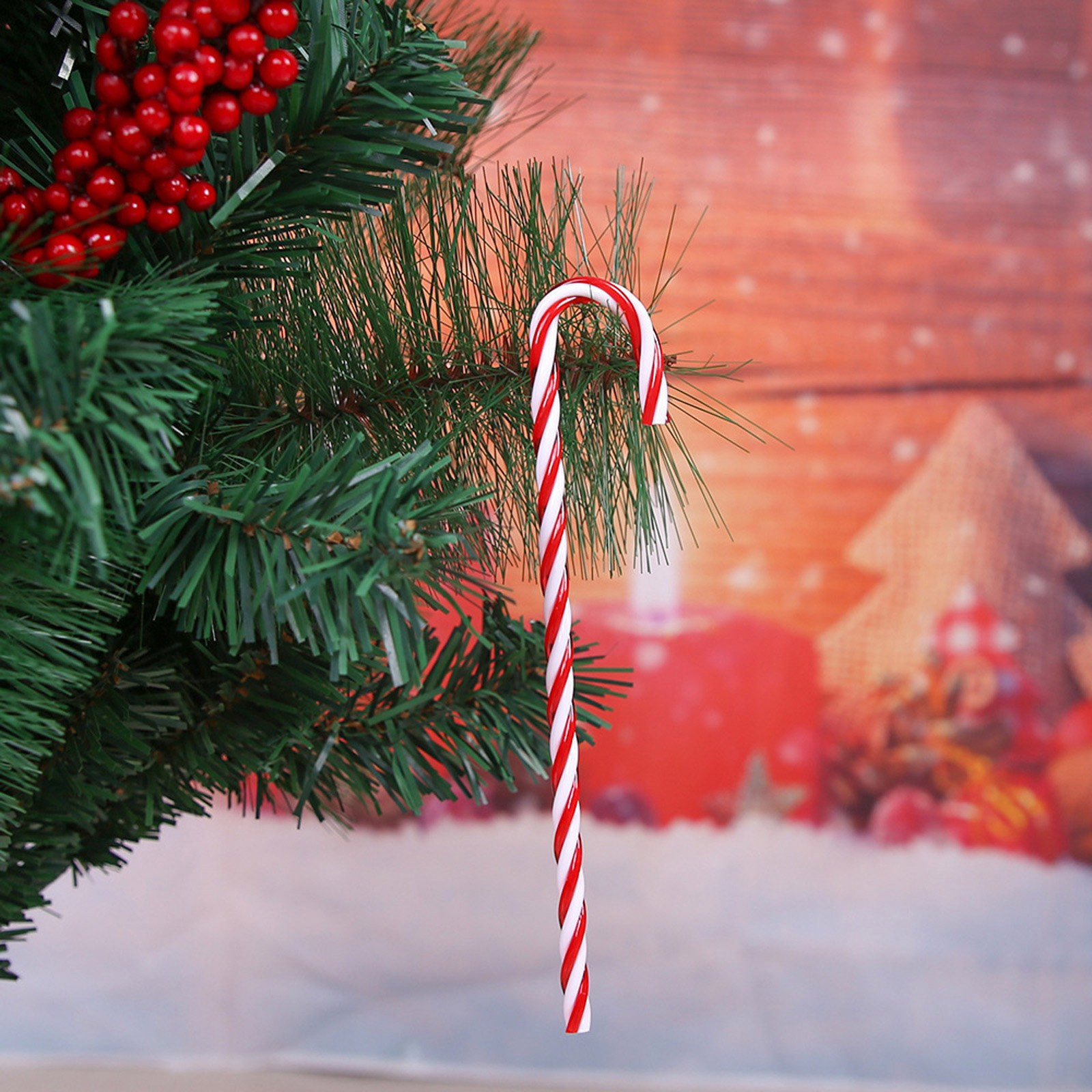 Colgantes Para árbol de Navidad, 6 unidades, bastones de caramelo, adornos Para...