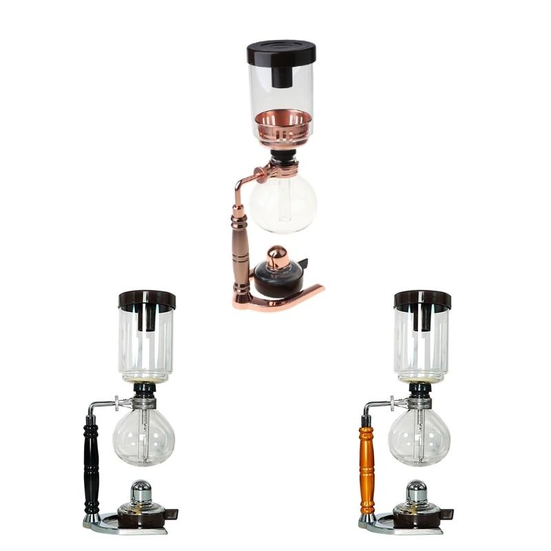 سيفون الشاي سيفون وعاء فراغ القهوة نوع الزجاج ماكينة القهوة فلتر