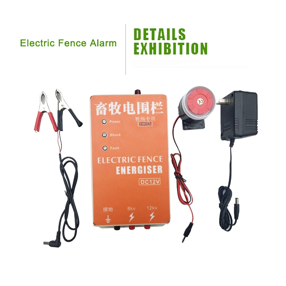 Solar Electric Fence Energizer Charger High Voltage Pulse Controller Animal Poultry Farm Electric Fencing Shepherd 5/10/20km