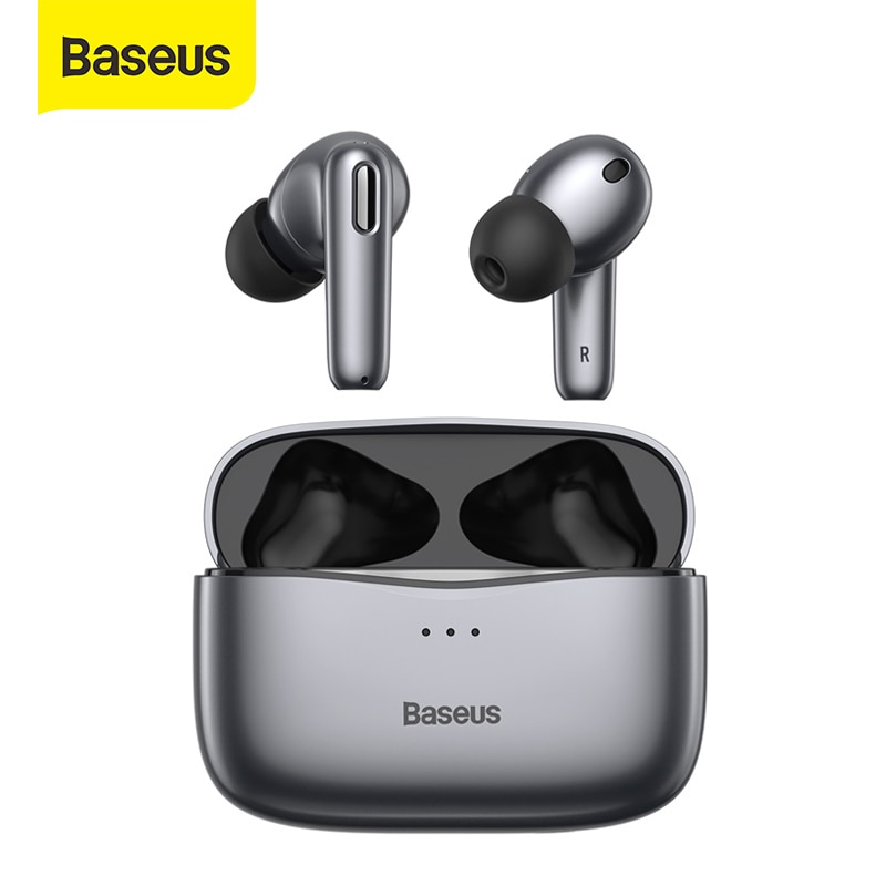 Review Baseus S2 TWS ANC Bluetooth Earphones True Wireless Headphones Anti Noise Cancelling Ear Buds with 4 Mic,Support Wireless Charge