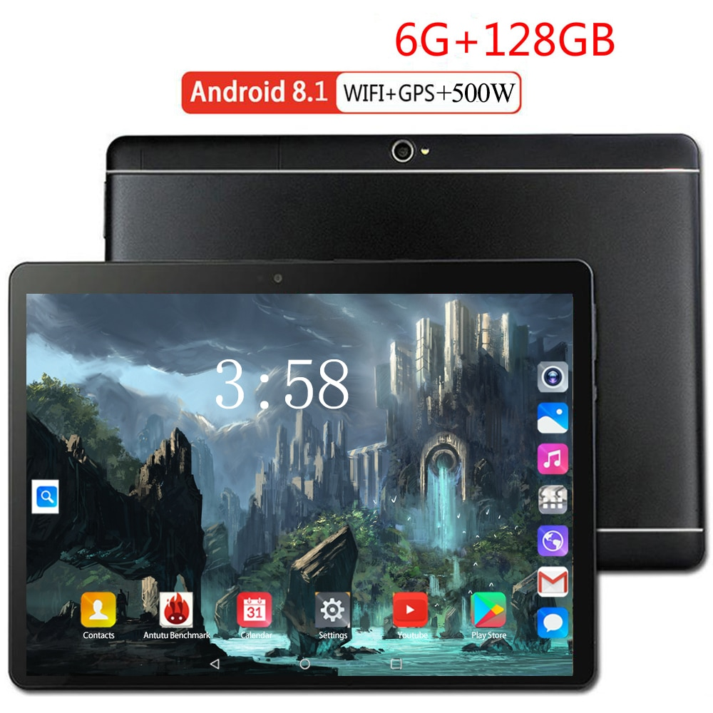 128GB tabletas MTK6797 4G FDD LTE 10,1 pulgadas tablet pc 10 Deca Core 5000mAh batería 1920*1200 IPS HD pantalla WIFI 5.0MP Cámara GPS