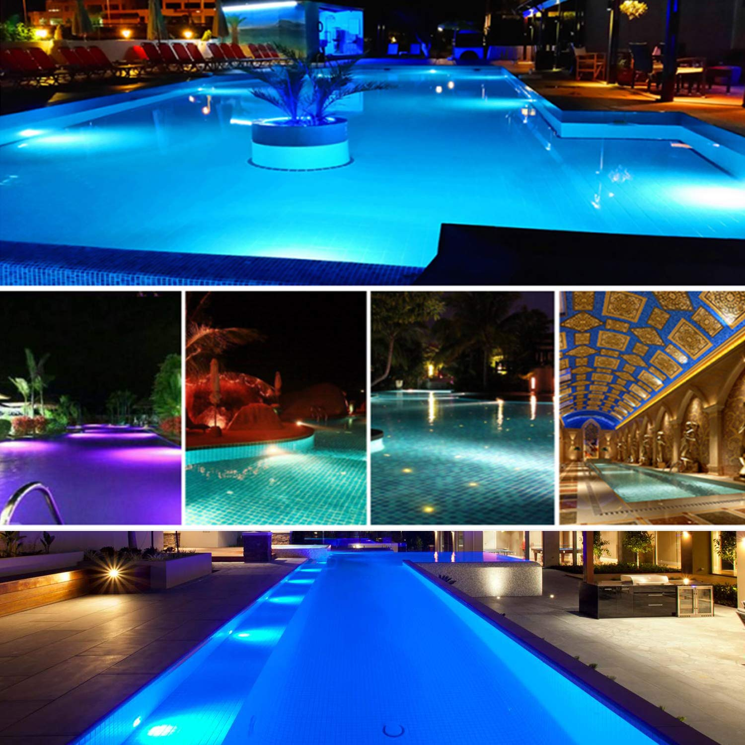 Bluetooth Control Led Pool Light Waterproof IP68 47W RGB Swimming Pool Light with 3M Cord Three Channels Five Operation Modes enlarge