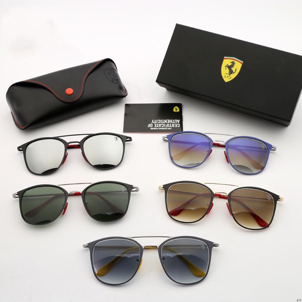 Gafas de sol auténticas Scuderia Ferrar para hombre, gafas de sol de Aviador clásicas a la moda, gafas de conducir para pesca, relojes de pareja para las cuatro estaciones