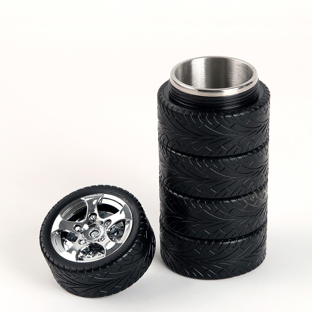 Nuevo termo de acero inoxidable para neumáticos, taza de café de Taza de Viaje automática, tazas a prueba de fugas al vacío, vaso aislado, hervidor pequeño portátil para deportes