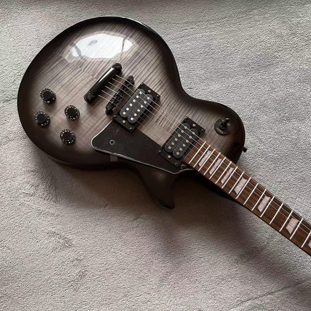 Tiger flame Standard Electric Guitar.High quality pickups.Rosewood fingerboard.Mahogany body.Handmade 6 stings guitarra. enlarge