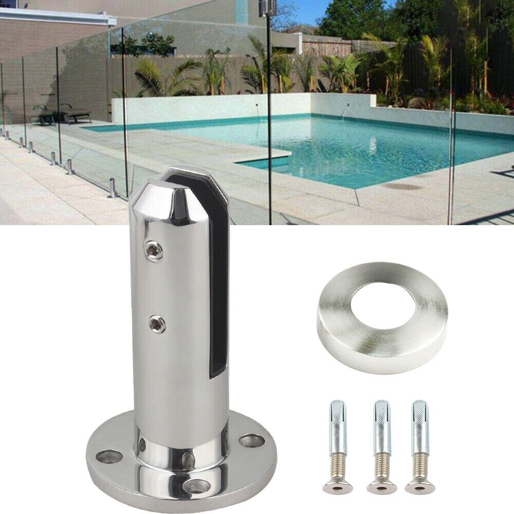 Barandilla de barandilla de vidrio Spigots para escaleras y piscinas, barandilla de acero inoxidable para casa, jardín y baño