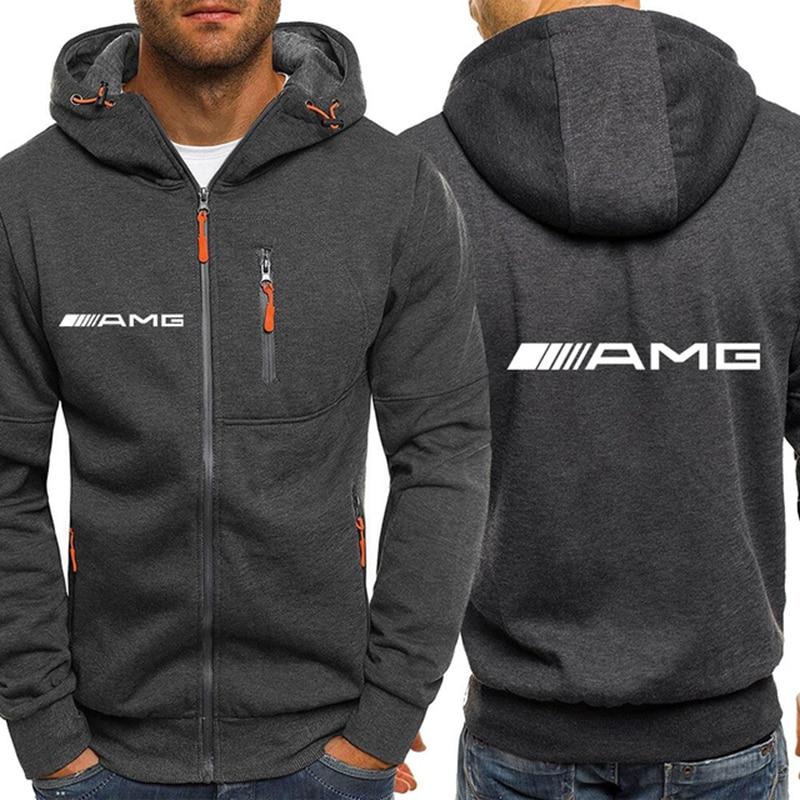 Весна-Осень 2021 AMG мужские классические спортивные топы куртки мужские/женские пальто пуловеры уличная одежда на молнии с капюшоном для пар
