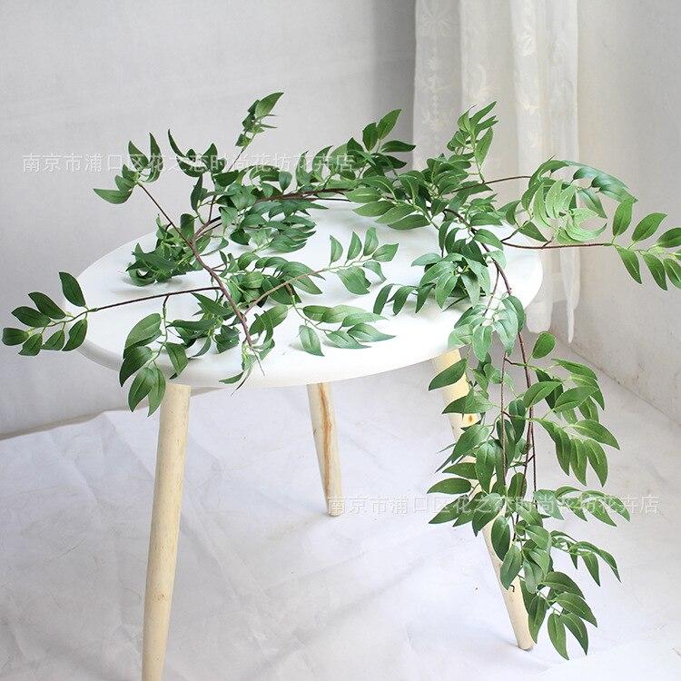 Искусственные листья ивы, лозы, искусственные растения, лоза, гирлянда, искусственные листва цветов, украшение для дома, пластиковый ротанг...