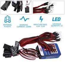 12 LED Kit déclairage frein de direction Simulation Flash lumière pour 1/10 voiture RC pour Yokomo pour Tamiya exquisément conçu