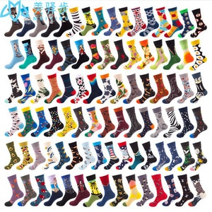 100 Pairs Adults Tsocks Cotton Fashion Stockings Autumn and Winter Stockings Funny
