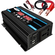 Auto Inverter 12V 220V 4000W Max Inverter Spannung Konverter Transformator 12V Zu 110 V/220 V Inverter + LCD Display 2 USB