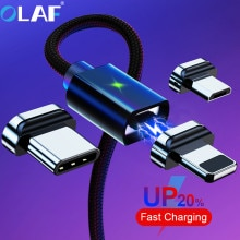 OLAF 2M Magnetic Micro USB Cable For iPhone Samsung Fast Charging Data Wire Cord Magnet Charger USB