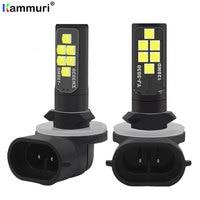 KAMMURI 2Pcs H27W2 H27W/2 881 Led Bulbs Fog Lights for Cars Led Fog Driving Lamp High Lights Car Light Sourse White H27W H27 Led