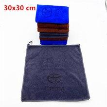30x30 microfibre voiture logo serviette lavage de voiture serviette propre pour Toyota camry chr corolla rav4 yaris prius voiture accessoires