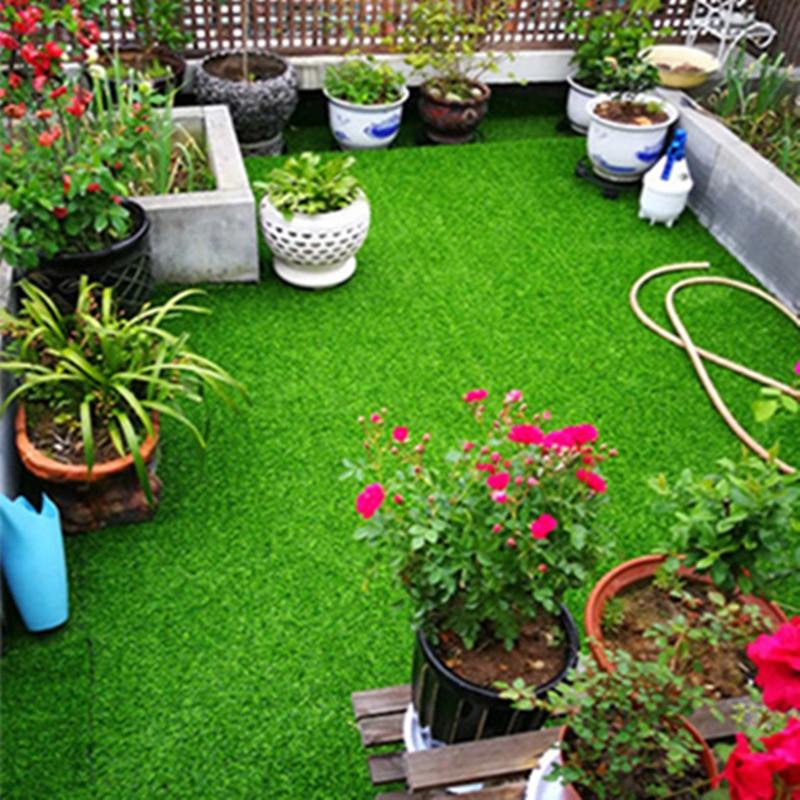 100X100cm césped Artificial decoración al aire libre caja verde césped patio boda plástico falso césped alfombra decoración de jardín