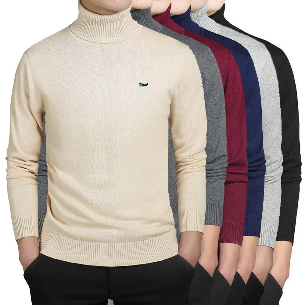 Демисезонный Новинка; Обувь с вышивкой логотипа мужские свитера, кофты, пуловеры мужские тонкие свитера с воротником-стойкой и Slim Fit трикота...