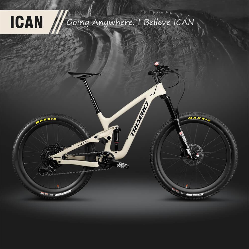 """27.5er camino MTB bicicleta de montaña 27,5 """"más carbono camino Suspensión de marco de 130mm XS/S/M/L/XL"""