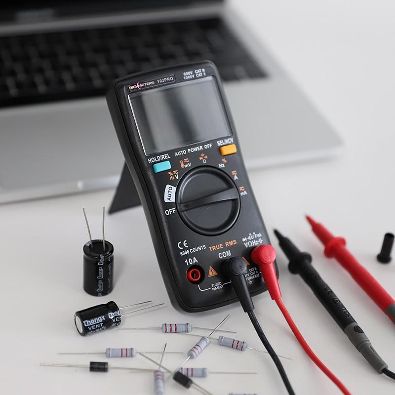 RM102Pro мультиметр Цифровой 6000 отсчетов Авто 113D задний светильник AC/DC вольтметр-Транзистор тестер Частота Диод температура