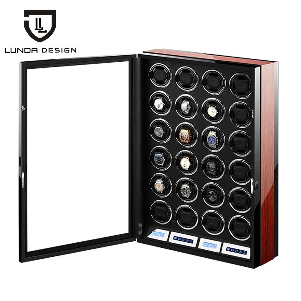 LUNDA ملفاف ساعة صندوق ساعة عرض ملفاف ساعة ساعة جامع مع شاشة LED باللمس عرض