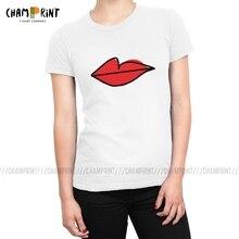 Lèvres rouges comme On le voit sur Villanelle T-shirts femmes Hip Hop tuer Eve 100% coton t-shirt Vogue T-shirts haut vêtements féminins